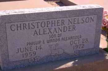 ALEXANDER, CHRISTOPHER NELSON - Graham County, Arizona | CHRISTOPHER NELSON ALEXANDER - Arizona Gravestone Photos