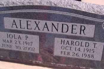 ALEXANDER, HAROLD THORNTON - Graham County, Arizona | HAROLD THORNTON ALEXANDER - Arizona Gravestone Photos