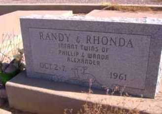 ALEXANDER, RANDY - Graham County, Arizona | RANDY ALEXANDER - Arizona Gravestone Photos