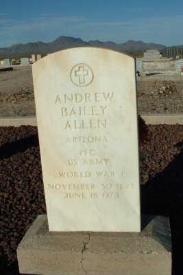 ALLEN, ANDREW - Graham County, Arizona | ANDREW ALLEN - Arizona Gravestone Photos