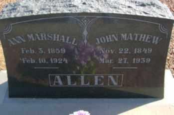 ALLEN, JOHN MATHEW JOHNSON - Graham County, Arizona | JOHN MATHEW JOHNSON ALLEN - Arizona Gravestone Photos