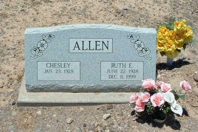ALLEN, CHESLEY - Graham County, Arizona | CHESLEY ALLEN - Arizona Gravestone Photos
