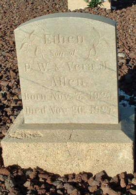 ALLEN, ETHEN - Graham County, Arizona | ETHEN ALLEN - Arizona Gravestone Photos