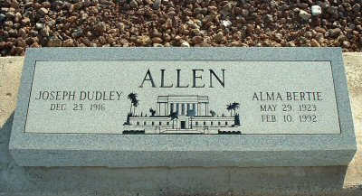 ALLEN, ALMA - Graham County, Arizona | ALMA ALLEN - Arizona Gravestone Photos