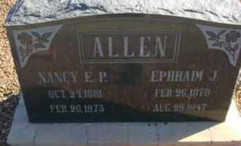 ALLEN, NANCY EVALINE - Graham County, Arizona | NANCY EVALINE ALLEN - Arizona Gravestone Photos