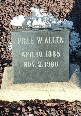 ALLEN, PRICE - Graham County, Arizona | PRICE ALLEN - Arizona Gravestone Photos