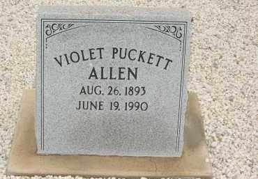 ALLEN, VIOLET ARELIA PUCKETT - Graham County, Arizona   VIOLET ARELIA PUCKETT ALLEN - Arizona Gravestone Photos