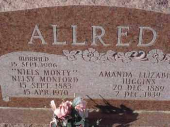 HIGGINS ALLRED, AMANDA ELIZABETH (MANDY) - Graham County, Arizona | AMANDA ELIZABETH (MANDY) HIGGINS ALLRED - Arizona Gravestone Photos