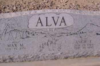 ALVA, MAX M. - Graham County, Arizona | MAX M. ALVA - Arizona Gravestone Photos