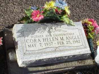 ANGLE, CORA HELEN M - Graham County, Arizona | CORA HELEN M ANGLE - Arizona Gravestone Photos