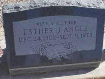 ANGLE, ESTHER J. - Graham County, Arizona   ESTHER J. ANGLE - Arizona Gravestone Photos