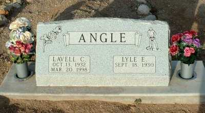 ANGLE, LAVELL C. - Graham County, Arizona | LAVELL C. ANGLE - Arizona Gravestone Photos