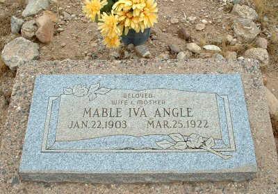 ANGLE, MABLE IVA - Graham County, Arizona   MABLE IVA ANGLE - Arizona Gravestone Photos