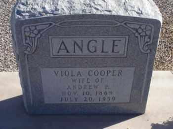 COOPER ANGLE, VIOLA - Graham County, Arizona | VIOLA COOPER ANGLE - Arizona Gravestone Photos
