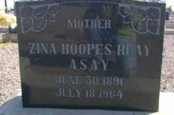 REAY, ZINA - Graham County, Arizona | ZINA REAY - Arizona Gravestone Photos