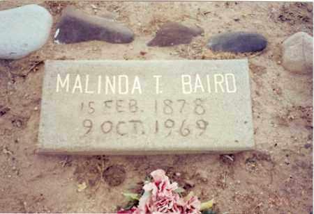 BAIRD, MALINDA THOMAS - Graham County, Arizona   MALINDA THOMAS BAIRD - Arizona Gravestone Photos