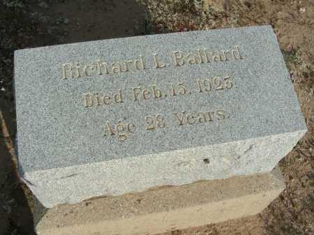 BALLARD, RICHARD L - Graham County, Arizona | RICHARD L BALLARD - Arizona Gravestone Photos