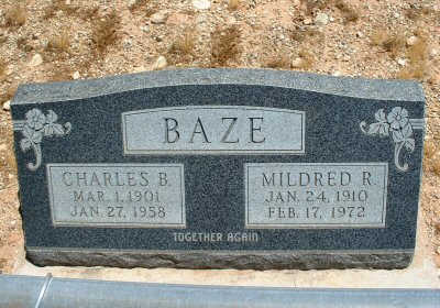 BAZE, MILDRED R. - Graham County, Arizona | MILDRED R. BAZE - Arizona Gravestone Photos