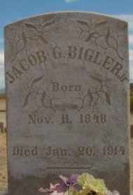 BIGLER, JR., JACOB G. - Graham County, Arizona   JACOB G. BIGLER, JR. - Arizona Gravestone Photos