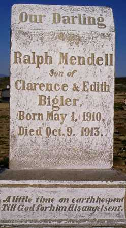 BIGLER, RALPH MENDELL - Graham County, Arizona   RALPH MENDELL BIGLER - Arizona Gravestone Photos
