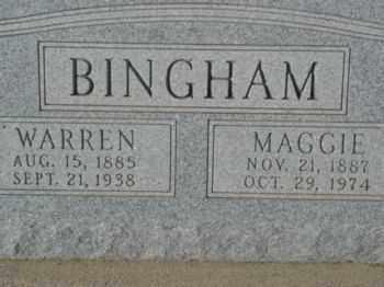 BINGHAM, MAGGIE DRUSCILLA - Graham County, Arizona   MAGGIE DRUSCILLA BINGHAM - Arizona Gravestone Photos
