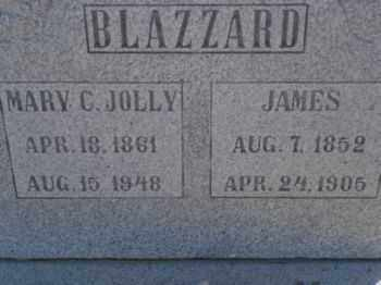 JOLLY BLAZZARD, MARY CATHERINE - Graham County, Arizona | MARY CATHERINE JOLLY BLAZZARD - Arizona Gravestone Photos