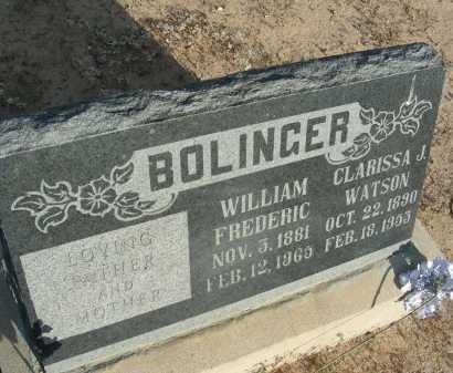 BOLINGER, CLARISSA J - Graham County, Arizona | CLARISSA J BOLINGER - Arizona Gravestone Photos