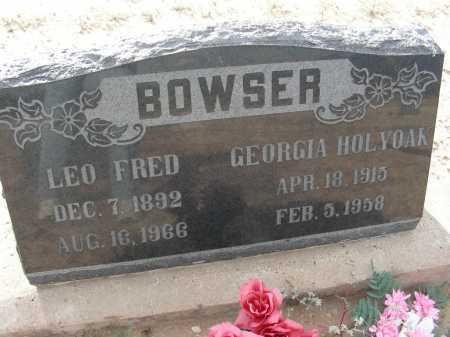 BOWSER, GEORGIA - Graham County, Arizona   GEORGIA BOWSER - Arizona Gravestone Photos