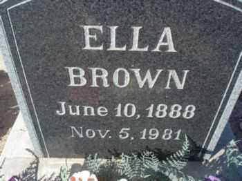 BROWN HENDRICKS, ELLA - Graham County, Arizona | ELLA BROWN HENDRICKS - Arizona Gravestone Photos