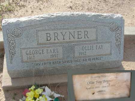 BRYNER, GEORGE EARL - Graham County, Arizona | GEORGE EARL BRYNER - Arizona Gravestone Photos