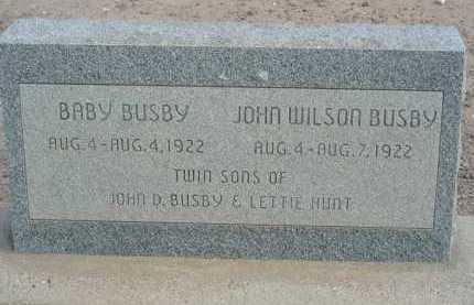 BUSBY, BABY - Graham County, Arizona | BABY BUSBY - Arizona Gravestone Photos