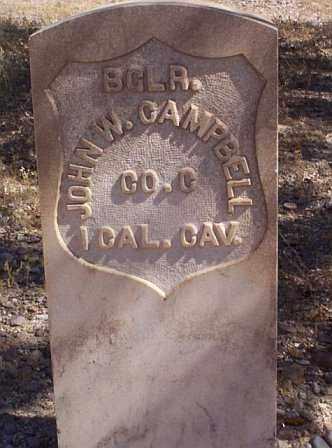 CAMPBELL, JOHN W. - Graham County, Arizona | JOHN W. CAMPBELL - Arizona Gravestone Photos