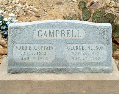UPTAIN CAMPBELL, MAUDIE A. - Graham County, Arizona | MAUDIE A. UPTAIN CAMPBELL - Arizona Gravestone Photos