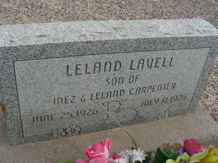 CARPENTER, LELAND LAVELL - Graham County, Arizona | LELAND LAVELL CARPENTER - Arizona Gravestone Photos