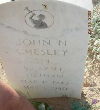 CHESLEY, JOHN N - Graham County, Arizona | JOHN N CHESLEY - Arizona Gravestone Photos