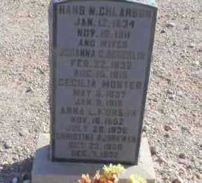 CHLARSON, HANNAH CHRISTINA - Graham County, Arizona | HANNAH CHRISTINA CHLARSON - Arizona Gravestone Photos