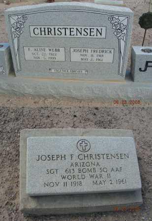 CHRISTENSEN, F ALINE - Graham County, Arizona   F ALINE CHRISTENSEN - Arizona Gravestone Photos