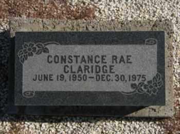 CLARIDGE, CONSTANCE RAE - Graham County, Arizona | CONSTANCE RAE CLARIDGE - Arizona Gravestone Photos