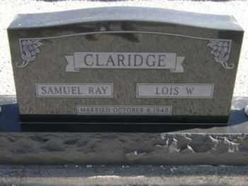 CLARIDGE, LOIS W. - Graham County, Arizona | LOIS W. CLARIDGE - Arizona Gravestone Photos