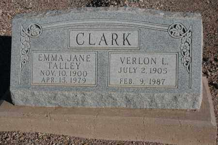 TALLEY CLARK, EMMA JANE - Graham County, Arizona | EMMA JANE TALLEY CLARK - Arizona Gravestone Photos