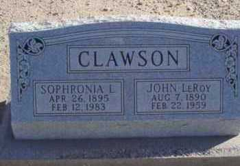 CLAWSON, SOPHRONIA - Graham County, Arizona | SOPHRONIA CLAWSON - Arizona Gravestone Photos