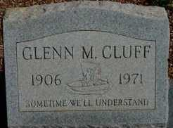CLUFF, GLENN M. - Graham County, Arizona | GLENN M. CLUFF - Arizona Gravestone Photos