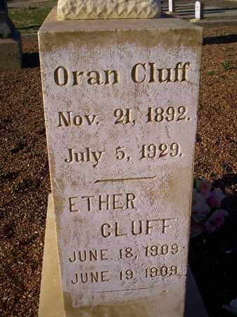 ORAN CLUFF CLUFF, ETHER - Graham County, Arizona | ETHER ORAN CLUFF CLUFF - Arizona Gravestone Photos