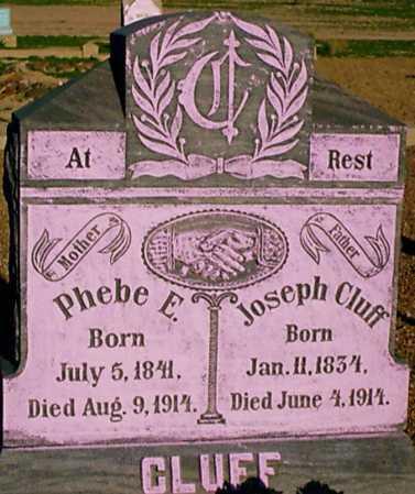 BUNNELL CLUFF, PHEBE E. - Graham County, Arizona   PHEBE E. BUNNELL CLUFF - Arizona Gravestone Photos