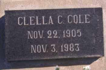 COLE, CLELLA CLORENE - Graham County, Arizona | CLELLA CLORENE COLE - Arizona Gravestone Photos