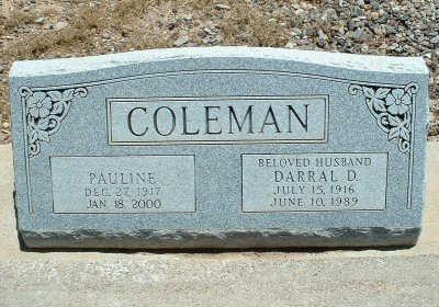 COLEMAN, PAULINE - Graham County, Arizona   PAULINE COLEMAN - Arizona Gravestone Photos