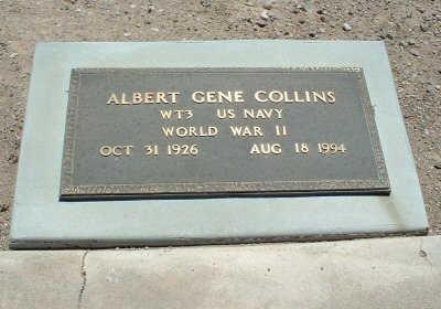 COLLINS, ALBERT GENE - Graham County, Arizona | ALBERT GENE COLLINS - Arizona Gravestone Photos