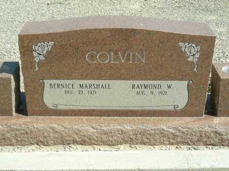 MARSHALL COLVIN, BERNICE - Graham County, Arizona | BERNICE MARSHALL COLVIN - Arizona Gravestone Photos