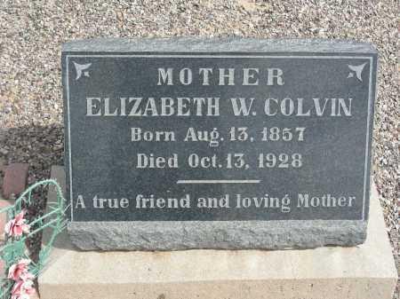 COLVIN, ELIZABETH W - Graham County, Arizona | ELIZABETH W COLVIN - Arizona Gravestone Photos