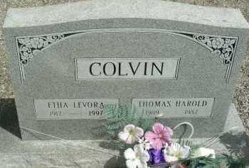 COLVIN, ETHA LEVORA - Graham County, Arizona | ETHA LEVORA COLVIN - Arizona Gravestone Photos